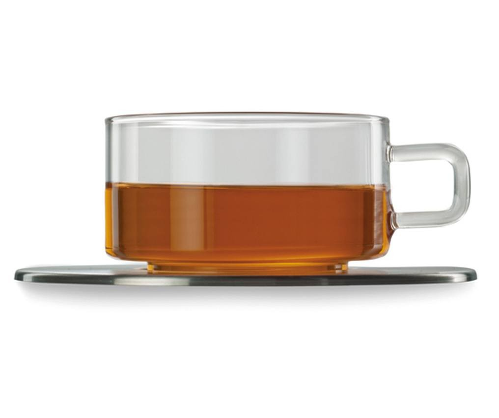 Skleněný šálek a podšálek 0,25l, 2ks Jenaer Glas
