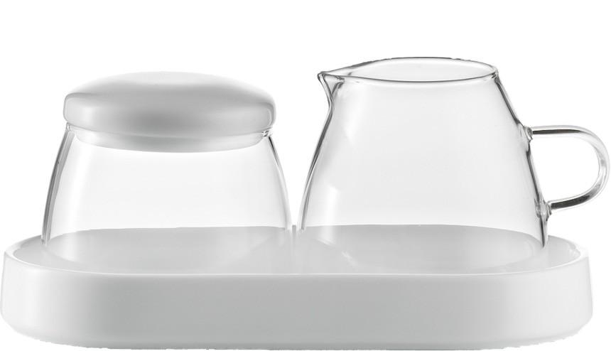 Jenaer Glas - Cukřenka a mléčenka. Concept Coffee