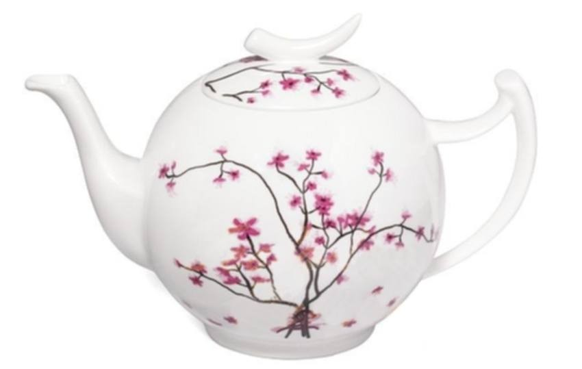 Porcelánová konvička TeaLogic - 1,5l. CHERRY BLOSSOM. Fine bone china
