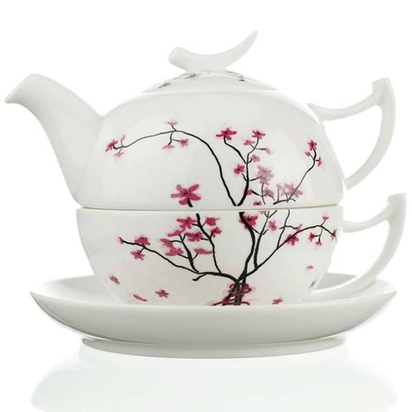Čaj pro jednoho TeaLogic 0,5l CHERRY BLOSSOM. Fine bone china