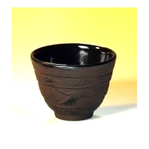 Litinový šálek na čaj - 'Baotou' 100 ml. Hnědý