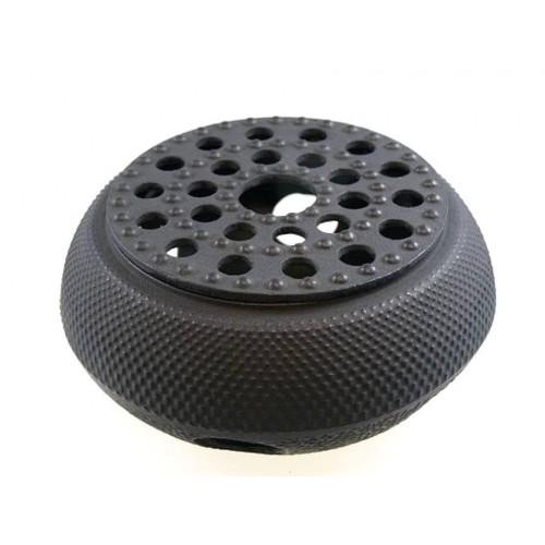 Litinový ohřívač - 14cm 'Arare' - černý