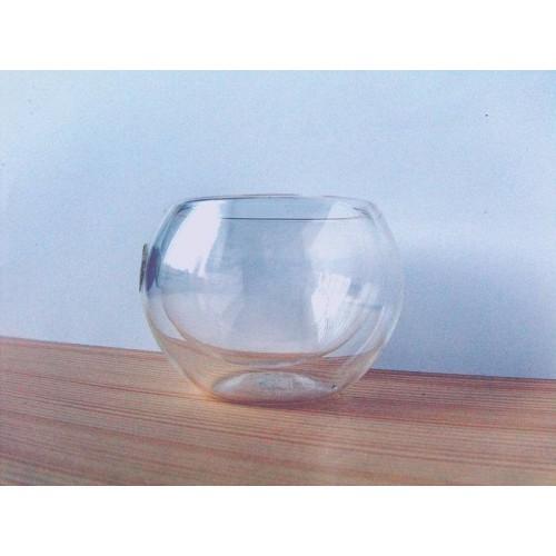 Skleněný šálek 0,05l - dvojitý. Chikao