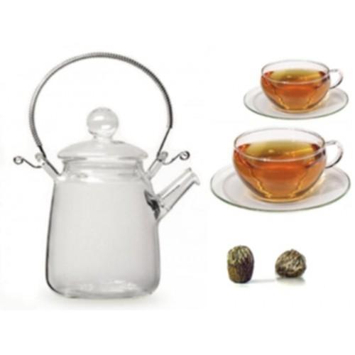 Skleněná sada Tea Art - 'Valentýn'
