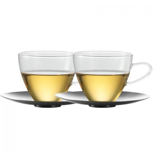 Skleněný šálek a podšálek 0,3l 2ks, Concept Tea - Jena